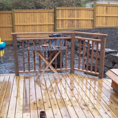 Deck Railing and Backyard Fence in Decks and Fences by European Garden Design Calgary