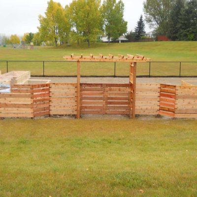 Decorative Dividing Fence in Wooden Decks and Fences by European Garden Design Calgary