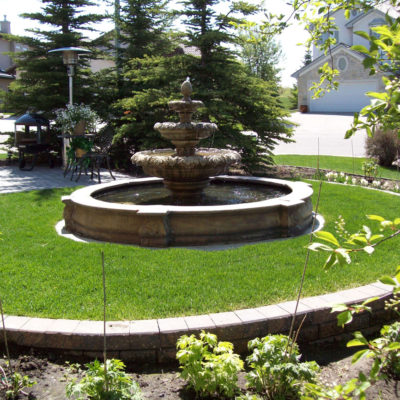 Garden Fountain by European Garden Design Calgary