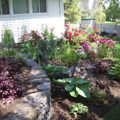 Natural Stone Retaining Walls for Flower Landscape Design Flower Gardens by European Garden Design Calgary