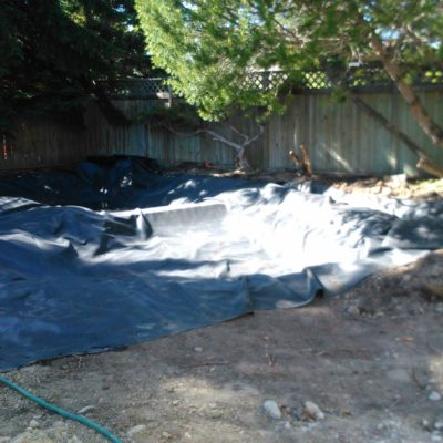 Backyard Garden Pond Design Stage 1 Before After by European Garden Design Calgary