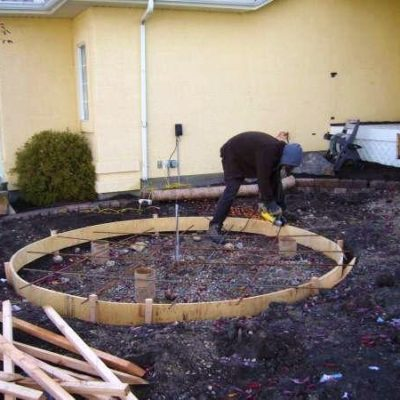 Before Garden Fountain Landscape Design Before After by European Garden Design Calgary