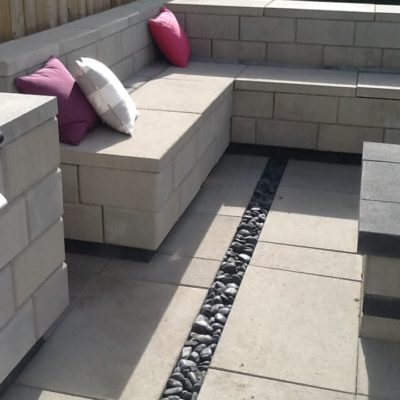 Comtemporary Stonework Seating by European Garden Design Calgary