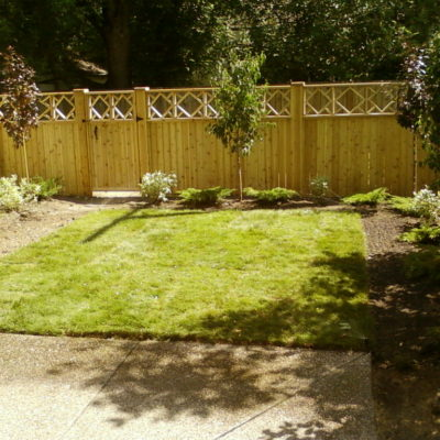 Decorative Wooden Fence Decks and Fences by European Garden Design Calgary